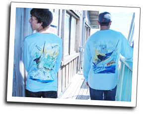 long-sleeved Guy Harvey shirts